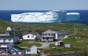 iceberg floats off newfoundland coast